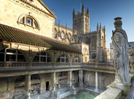 The Roman Baths, City of Bath, UK